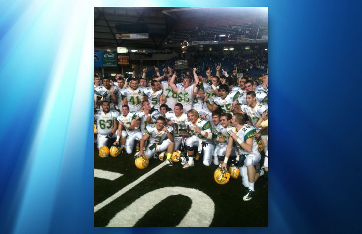 high school football lynden lions state title