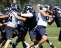 seattle seahawks defensive line offensive line practice