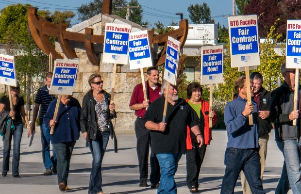 Strike continues at Bellingham Technical College
