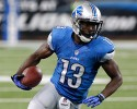Detroit Lions wide receiver Nate Burleson (13) runs during the fourth quarter of an NFL football game against the Minnesota Vikings at Ford Field in Detroit, Sunday, Sept. 8, 2013.