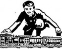 toy train graphic