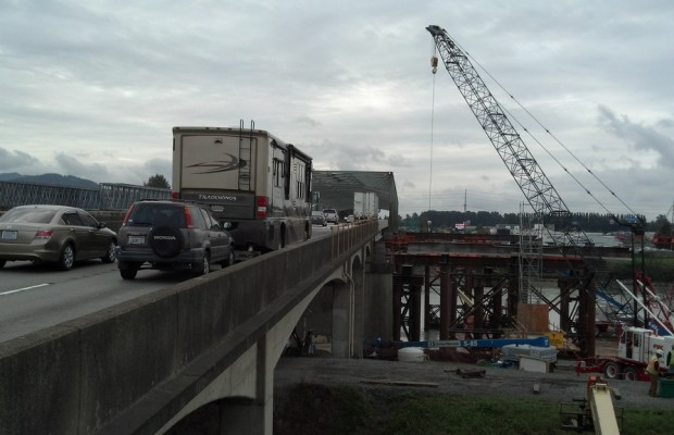 Skagit River bridge on track to be done by Thanksgiving