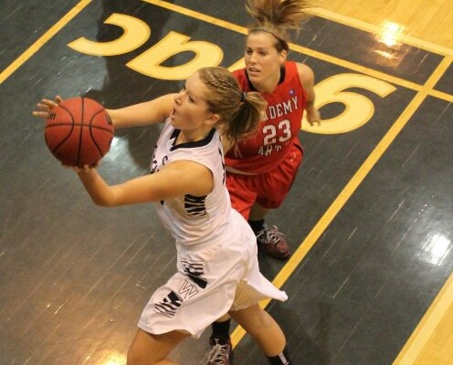 Viking women open hoop season on the road