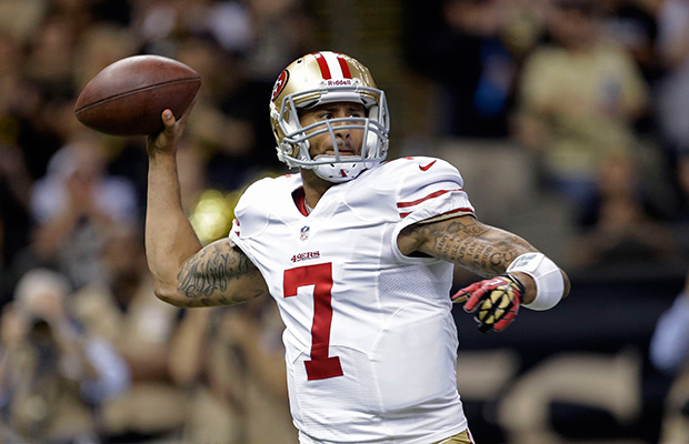 Kaepernick lifts 49ers over Panthers