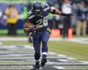Seattle Seahawks' Walter Thurmond celebrates his touchdown in the end zone against the Minnesota Vikings in the second half of an NFL football game, Sunday, Nov. 17, 2013, in Seattle.