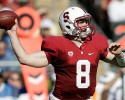Stanford quarterback Kevin Hogan throws against UCLA during the second half of an NCAA college football game on Saturday, Oct. 19, 2013, in Stanford, Calif. Stanford won 24-10.