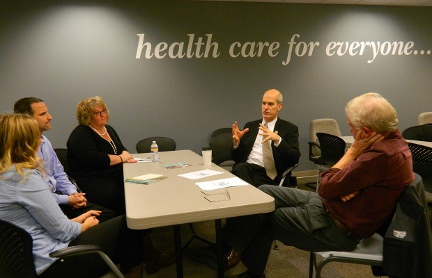 Larsen visits Bellingham, addresses health care criticism