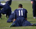 Seattle Seahawks wide receiver Percy Harvin stretches before NFL football practice on Friday, Jan. 3, 2014, in Renton, Wash.