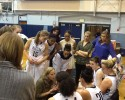 WWU women in huddle