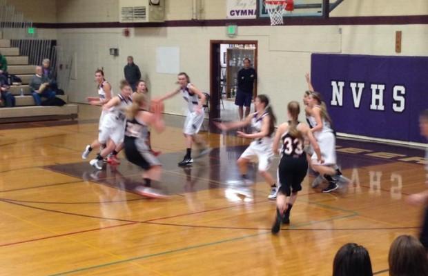 Blaine vs Nooksack Valley Girls Basketball 1st half 1/3/14