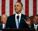 U.S. President Barack Obama delivers his State of the Union speech on Capitol Hill in Washington Jan. 28.