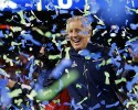Seattle Seahawks head coach Pete Carroll celebrates after the NFL Super Bowl XLVIII football game against the Denver Broncos Sunday, Feb. 2, 2014, in East Rutherford, N.J. The Seahawks won 43-8.