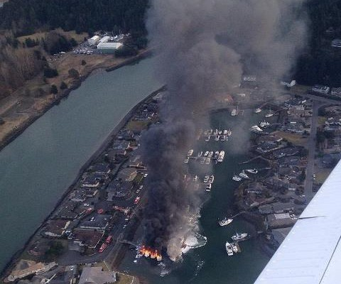 Cleanup begins on La Conner marina fire