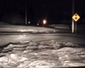 Thiel Road snow drift