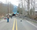 People survey the SR530 mudslide damage