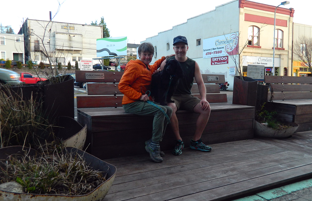 """Roving """"parklet"""" finds spot in front of Herald building"""