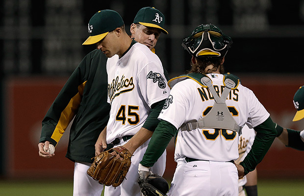 First place A's come to Seattle after benching closer