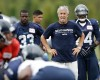 Seattle Seahawks coach Pete Carroll watches players during NFL football training camp Wednesday, Aug. 14, 2013, in Renton, Wash.