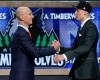 UCLA's Zach LaVine, right, is greeted by NBA commissioner Adam Silver after being selected 13th overall by the Minnesota Timberwolves during the 2014 NBA draft, Thursday, June 26, 2014, in New York