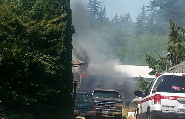 Fire closes down Mt Baker Hwy