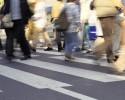 people cross walk