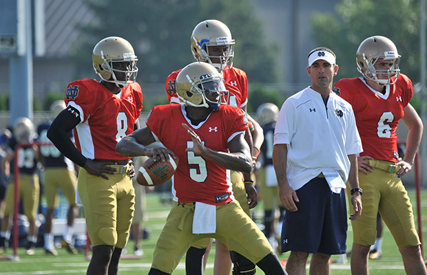 Golson regains job as Notre Dame's starting QB