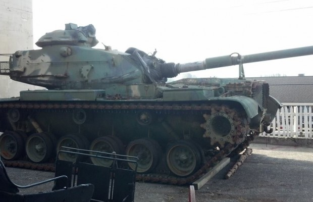 Limited inside tours offered of historic Army tank