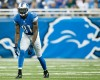 Detroit Lions wide receiver Calvin Johnson (81) gets set against the Jacksonville Jaguars during a preseason NFL football game at Ford Field in Detroit, Friday, Aug. 22, 2014.