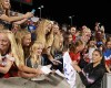 United States goalkeeper Hope Solo (1) signs autographs following the team's international friendly soccer match against Mexico on Saturday, Sept. 13, 2014, in Sandy, Utah. The United States won 8-0.