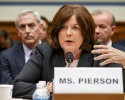 FILE - In this Sept. 30, 2014 file photo, Secret Service Director Julia Pierson testifies on Capitol Hill in Washington. Secret Service Director Julia Pierson has resigned amid recent White House security breach.