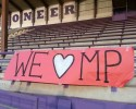 Banner at Nooksack High School.  High school across Washington are showing their support for Marysville-Pilchuck High School.