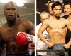 FILE - In this combination of file photos, U.S. boxer Floyd Mayweather Jr., left, prepares to spar at a gym in east London on May 22, 2009, and Manny Pacquiao, right, of the Philippines, weighs in for the junior welterweight boxing match against British boxer Ricky Hatton, May 1, 2009, in Las Vegas. The March 13 , 2010 megafight between Manny Pacquiao and Floyd Mayweather Jr. has been thrown into jeopardy. Mayweather's camp is demanding the fighters submit to Olympic-type drug testing in the weeks leading up to the bout. Leonard Ellerbe, Mayweather's manager, says the fight will not go on if Pacquiao doesn't agree to blood testing under standards followed by the United States Anti-Doping Agency.