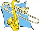 generic jazz big band sax graphic