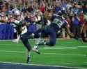 New England Patriots' Malcolm Butler intercepts a Russell Wilson pass to end Super Bowl XLIX