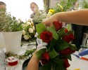 Florists make wedding bouquets at the Little Chapel of the Flowers in Las Vegas, Friday, July 6, 2007. The chapel is planning for 113 weddings on July 7, 2007, said marketing director Whitney Lloyd. It's the largest number the business has handled in its 50-year history.