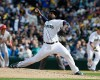 Seattle Mariners closing pitcher Fernando Rodney throws against the Los Angeles Angels in the ninth inning of an opening day baseball game against the Los Angeles Angels, Monday, April 6, 2015, in Seattle. Rodney earned the save and the Mariners defeated the Angels 4-1.