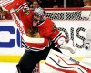 Chicago Blackhawks goalie Corey Crawford blocks a shot against the Minnesota Wild during the first period of Game 2 in the second round of the NHL Stanley Cup hockey playoffs in Chicago, Sunday, May 3, 2015.