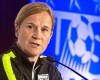 .S. women's soccer head coach Jill Ellis speaks during the U.S. Women's National Team World Cup media day, Wednesday, May 27, 2015, in New York. The U.S. Women will face the South Korea on May 30 in its final send-off match at Red Bull Arena, before leaving for Canada and the 2015 FIFA Women's World Cup.