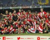 Athletic Bilbao celebrates a Spanish Super Cup championship. August 17, 2015