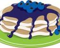 blueberry pancake graphic