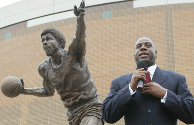 Magic Johnson Statue on oscar peterson youtube