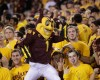 Arizona State mascot Sparky during the second half of an NCAA college football game against Oregon State on Saturday, Nov. 16, 2013, in Tempe, Ariz. The Sun Devils defeated the Beavers 30-17. (AP Photo/Rick Scuteri)