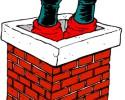 santa chimney graphic