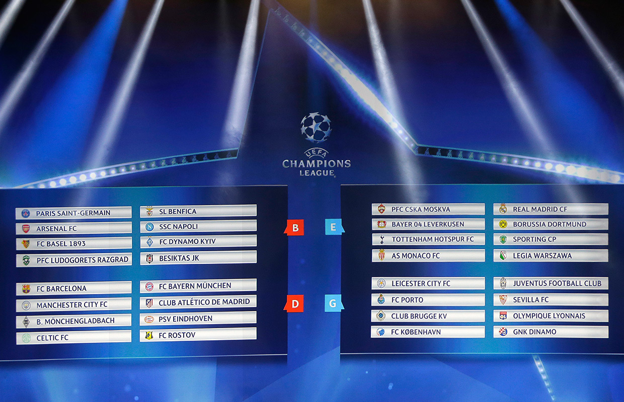 Champions League Draw: Images: Champions League Draw
