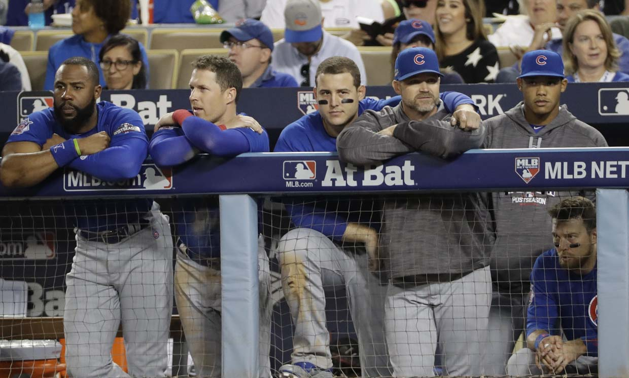 Cubs rout Dodgers, even NLCS at 2-2