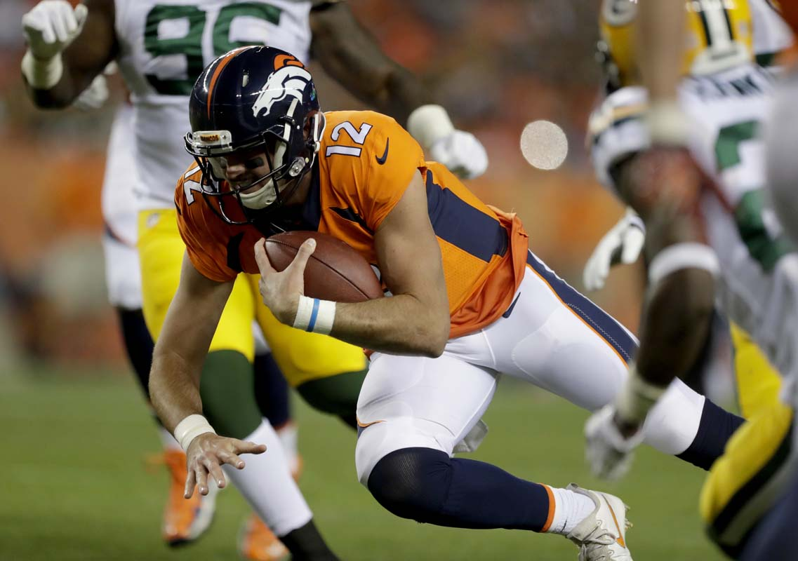 Paxton Lynch out for Broncos with shoulder sprain