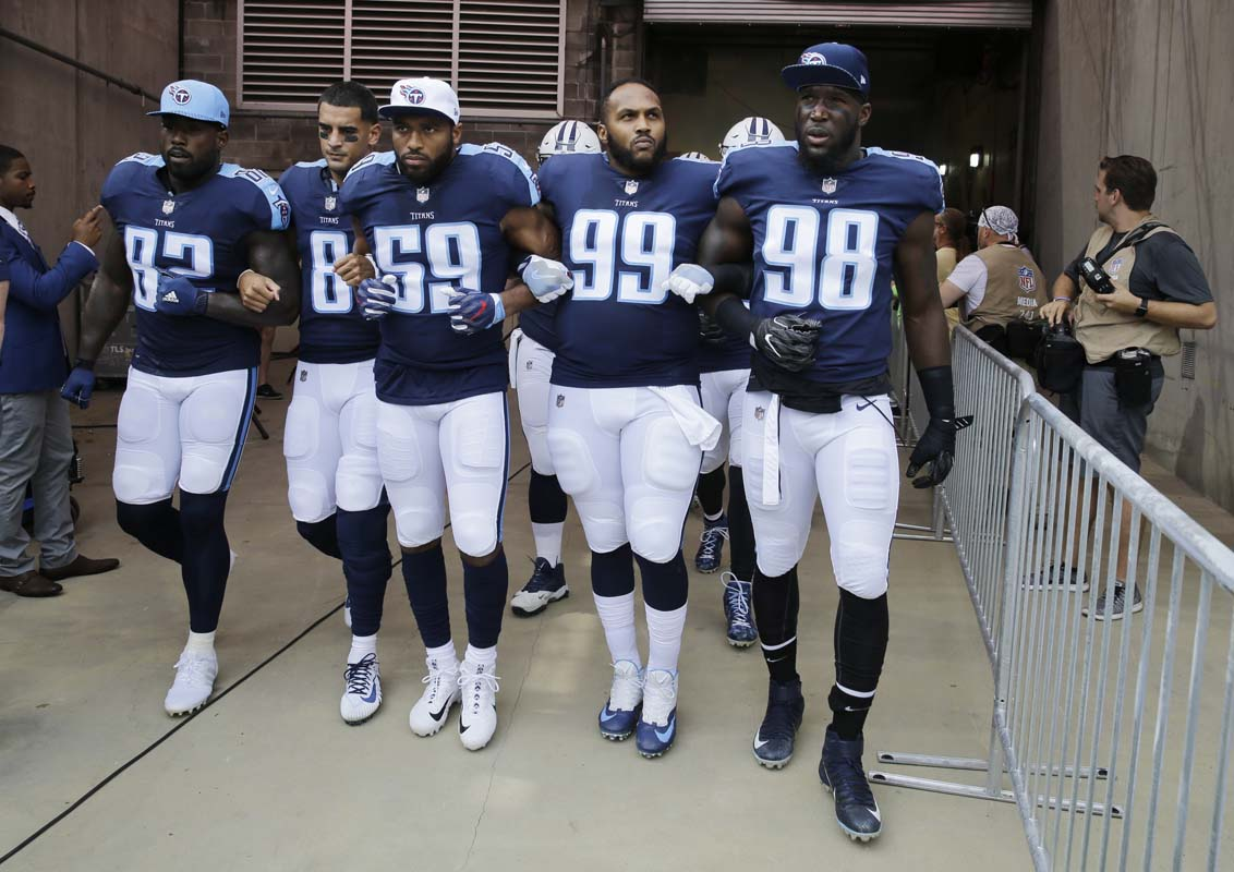 National Football League player Delanie Walker says he's received death threats over anthem protest