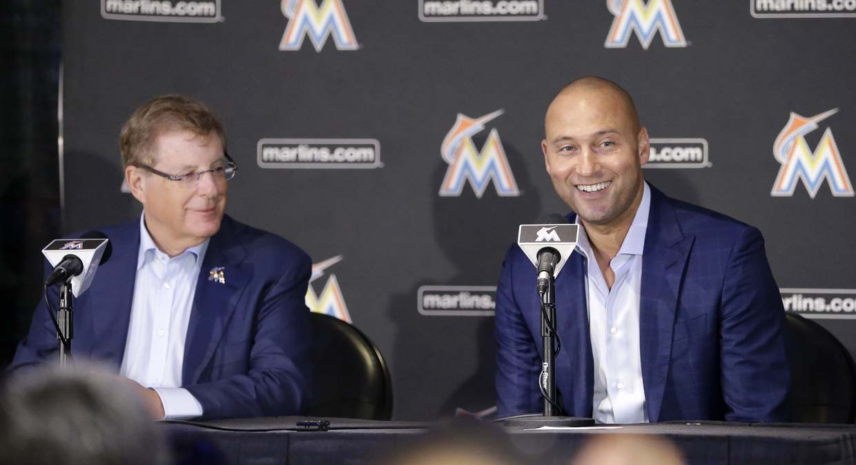 Marlins' Derek Jeter remains mum on Giancarlo Stanton's status