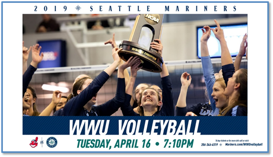 WWU Volleyball to be honored at Seattle Mariners game on April 16  1170 KPUG-AM